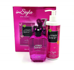 INSTYLE Crazy love for women coffret set (edp 100ml + 250ml body lotion) (GM)