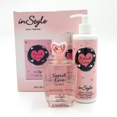 INSTYLE secret love for women coffret set (edp 100ml + 250ml body lotion (GM)