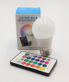 Led Rgb Bulb With Remote Control (AS PHOTO) (Os) (GM)