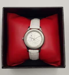 Ladies Leather Watch (WHITE) (OS) (GM)