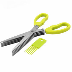 Herb Scissors with 5 Blades and Cover, Stainless Steel (GM)
