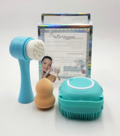 Facial Cleansing Brush And Silicone Massage Brush