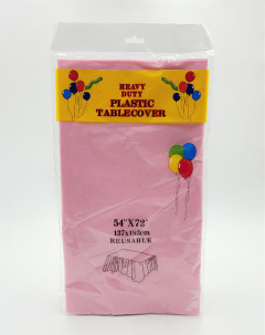 Plastic Table Covers (PINK) (Os) (GM)
