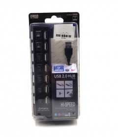 High Speed 7 and 4 Port USB Hub - Separate Switches