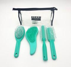 OSAKI 4 Pcs Hair Brush Set in Bag