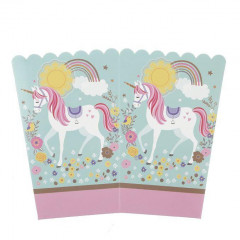 10 Pcs Popcorn Box Set for Party-Unicorn