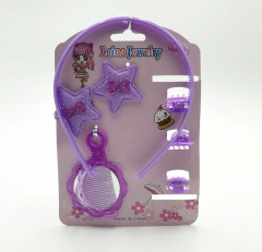Set of hairpins, clips ,hair clips,Earrings and a Mini mirror shoulder