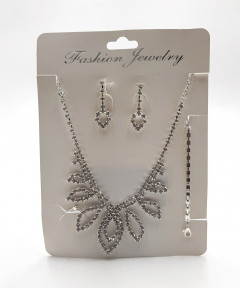 Shine Bright | Sparkle Fashion Jewelry Set: Earrings, Loop, Sparkle Ring & Bracelet