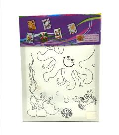 6 Pcs canvas frame acrylic colours for kids