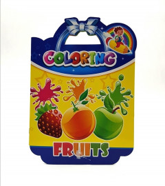 Fruits coloring book: Fruits and Vegetables Baby Activity Book for Kids Age 1-3, Boys or Girls, for Their Fun Early Learning of First Easy Words. (Toddler Activity book)