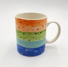 Coffee Mug of Large-size Restaurant Coffee Mugs By Bruntmor, Polka Dot