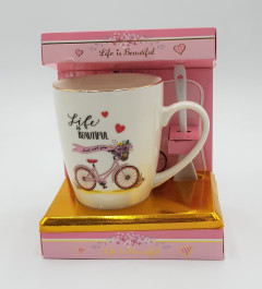 """Ceramic Cup """"French Bicycle"""""""
