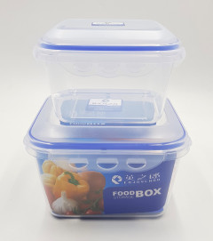 Belle Vous Clear Reusable Plastic Food Containers with 2 Compartments and Lid (3Pack) - Leak-proof, BPA Free Storage Containers - Microwave, Freezer & Dishwasher Resistant - Meal Prep Lunchboxes
