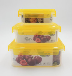 Belle Vous Clear Reusable Plastic Food Containers with 3 Compartments and Lid (3Pack) - Leak-proof, BPA Free Storage Containers - Microwave, Freezer & Dishwasher Resistant - Meal Prep Lunchboxes