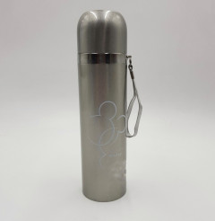 Stainless Steel Insulated Double Wall Hot and Cold Slim Dotted Design Thermos Flask Leak Proof Sports Water Bottle