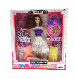 Cute barbie Doll Set Wit Accessories, Good Gift For Kids