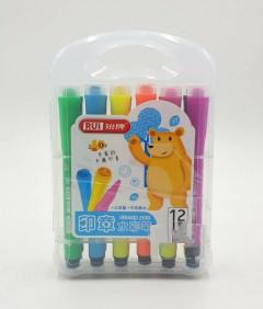 12 Color Marker Art Drawing Set