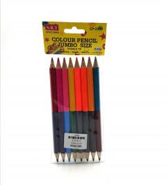 8 Pcs Double Coloured Pencils