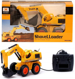 SUKUN Wired Remote Control Battery Operated JCB Truck Toys for Kids with Big Size Excavator Construction Shovel Loader Toy