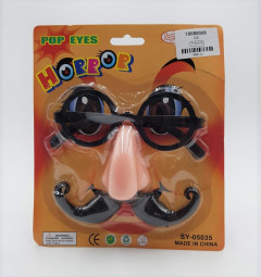 Novelty Funny Big Nose Glasses Mustache Beard Mask Halloween Costume Party Cosplay Props for Kids