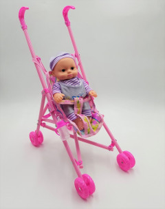 Kid Connection Baby Doll Stroller Set