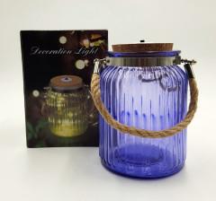 Tabletop Mercury Mason Jar Solar Lantern