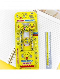 2 Pcs Pack Pencil With Eraser