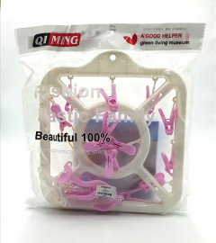 Plastic Cloth Drying Stand Hanger with Clips/pegs, Baby Clothes Hanger Stand