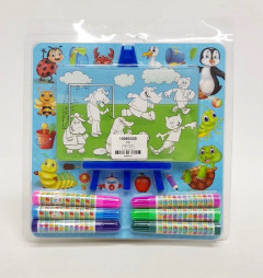 6 Pcs Marker Set With Paper Drawing