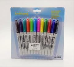 12 Pcs Set Marker Pens Colored