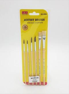 6 Pcs Artist Brush Set