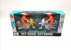 2 Pcs Spectacular Toy Motorcycle Off Road Motorcyclist Autobike