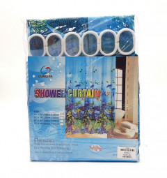 Waterproof Shower Curtain, Long Shower Curtain Made of Polyester, Stylish and Functional Shower Liner for Bathroom