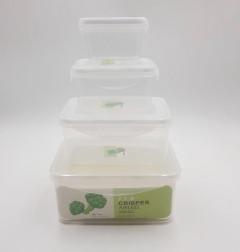 4 Pcs set of plastic fridge boxes 4 sizes