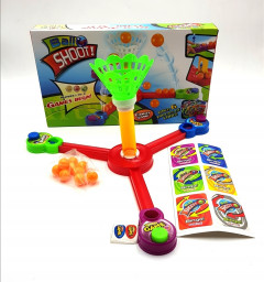 Ball Shoot is a game set for 1 - 3 players aged 5 and up! Concentrate, aim and shoot! Who will get more baskets and wins? A game set for the entire family, each Ball Shoot set comes with 6 challenge cards!