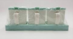 4 Pcs Seasoning Box whit poon Set Spice Condiment Sugar Salt Storage Case Container Kitchen