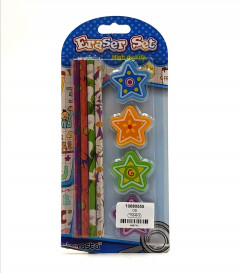 8pcs HIGH QUALITY ERASERS AND PENCILS