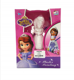 Sofia the first 3d Plaster Statue to Paint and Decorate