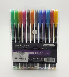 12 Colors Neon Gel Pens Set