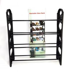 12 Pair Stackable Shoe Rack