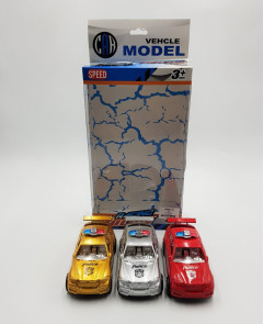 3 Pcs Racing Police Set