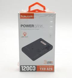 Power Bank YXD-A26 – 12000 mAh – Yosonda