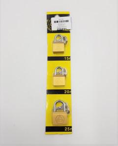 3 Pcs Iron Lock Pack