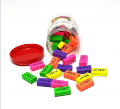 30 Pcs Colored Eraser