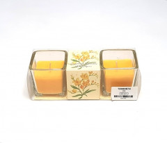 2 Pcs Home Decorative Crystal Gel Candles