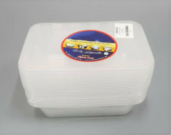 China White Disposable Lunch Box,White Plastic Fast Food