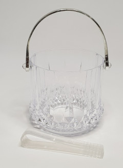 special transparent glass ice bucket ice bucket ice bucket crystal champagne bucket of ice particles barrel kegs