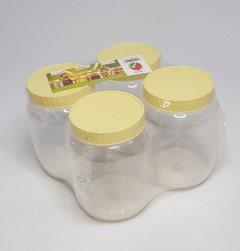4 Pcs Container Set - Plastic Grocery Container