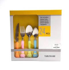 24 Pcs Set Tableware Dinner Forks , Knives , Spoons