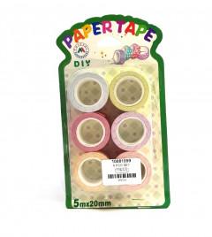 6 Pcs Set Paper Tape